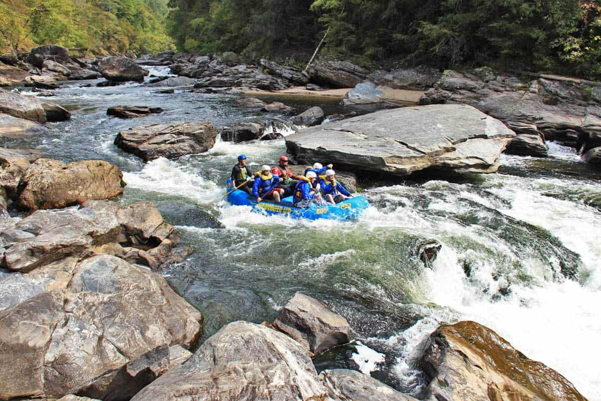 Sock'em Dog Rapid on Section IV of the Chattooga River