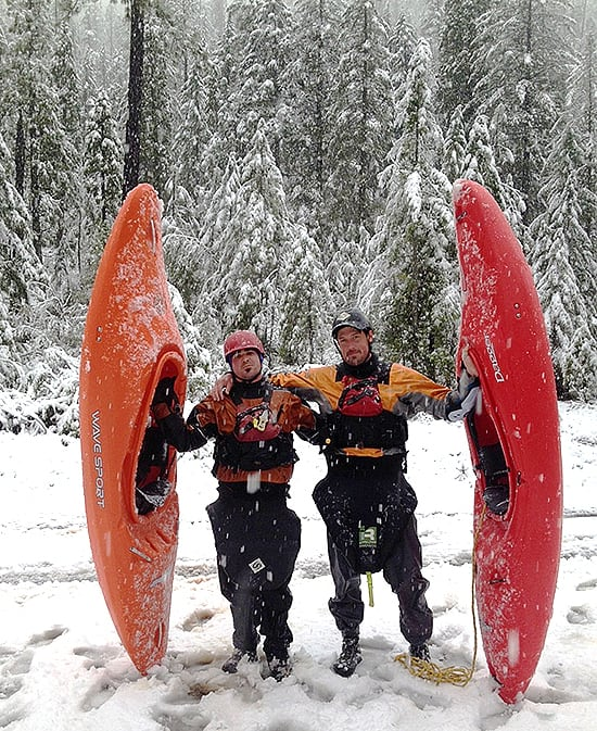 J.R. and I after a surreal experience on Rough and Ready Creek
