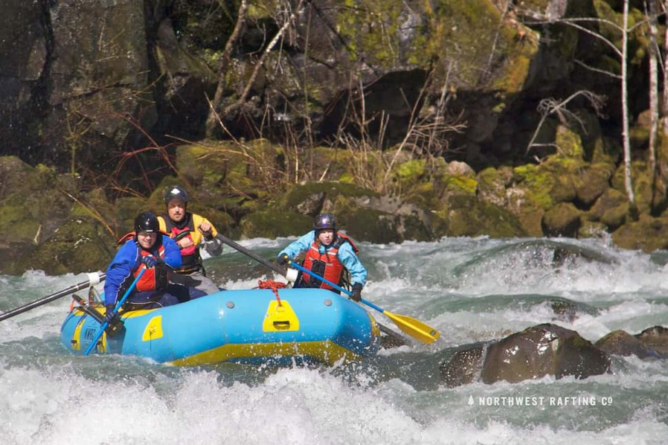 Urethane Rafts do well on Rocky Rivers
