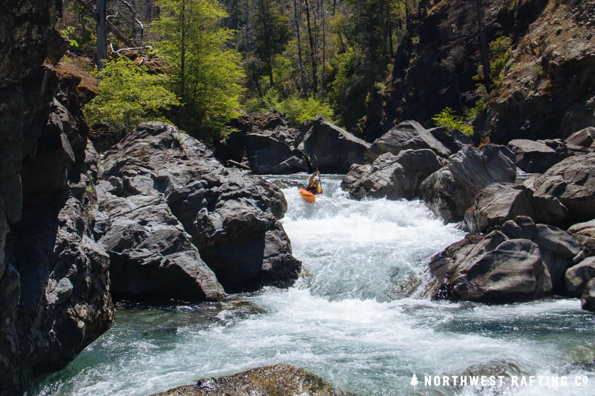Kayaking the Chetco River at 1200 cfs (at Brookings)