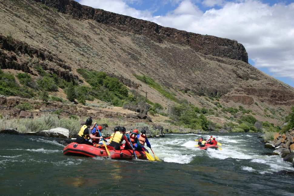 Rafting on the Deschutes River