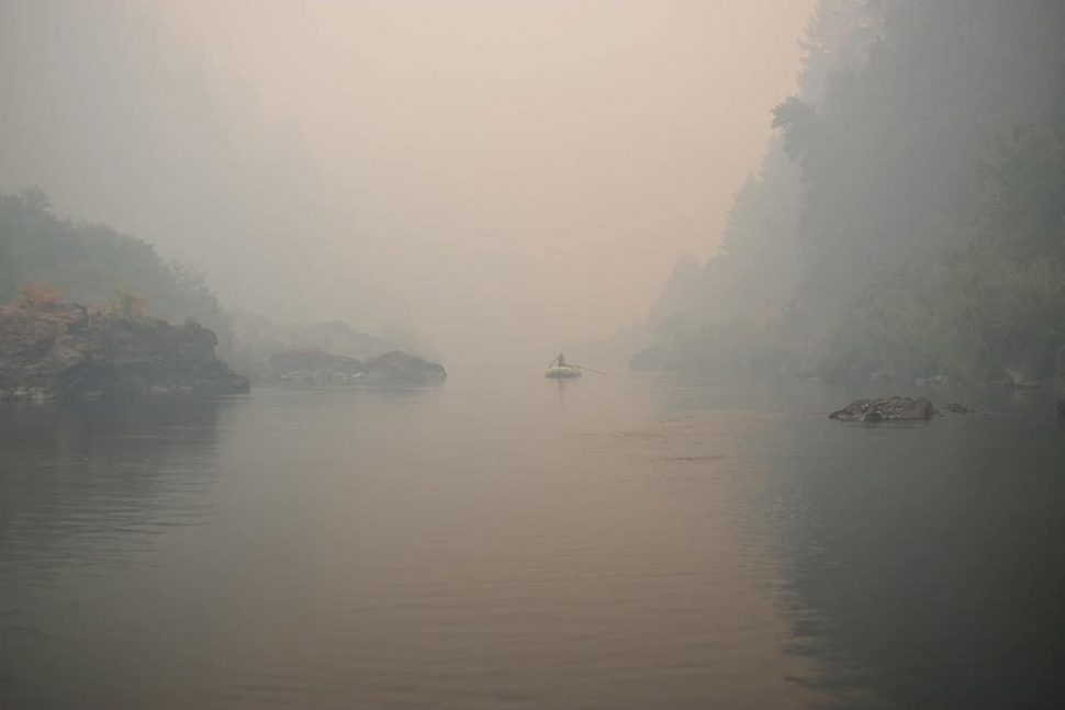 Smoky conditions on the Rogue River