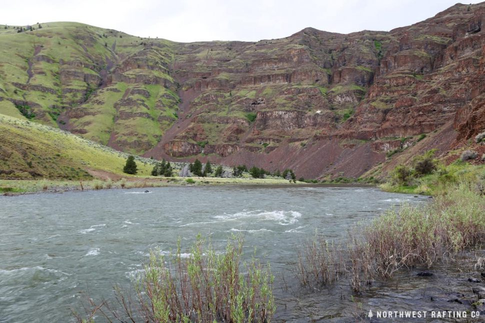 The John Day River flows through a beautiful desert canyon in Central Oregon