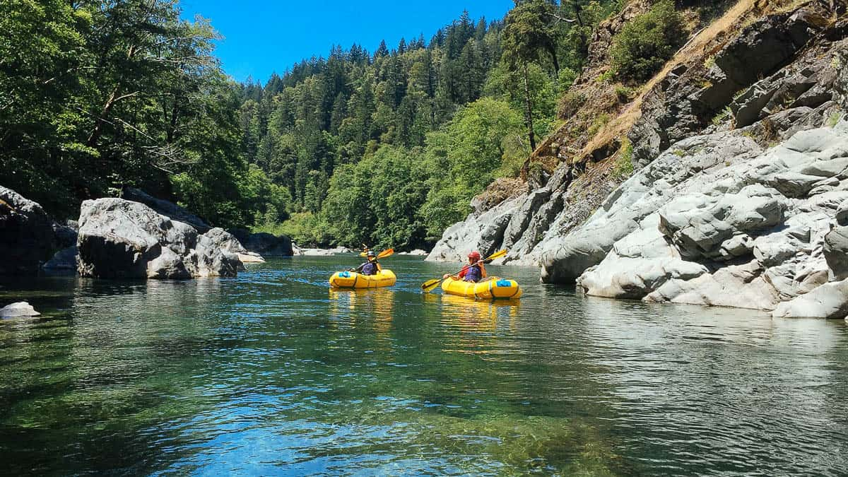Inflatable Kayaks on the Chetco River