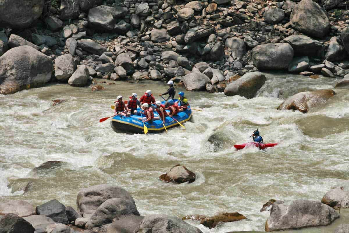 Rafting on the Bhote Kosi in Nepal