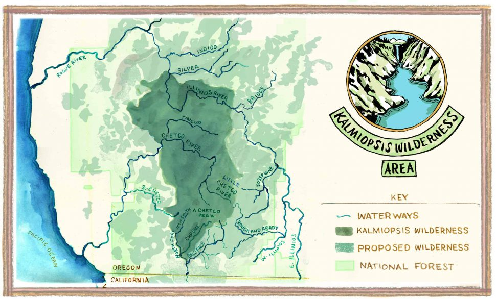 Kalmiopsis Rivers Map