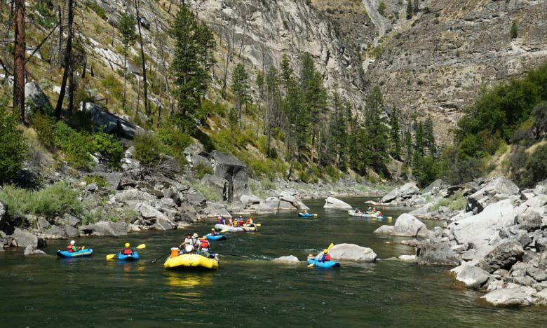 Rafting and kayaking on the Middle Fork of the Salmon River