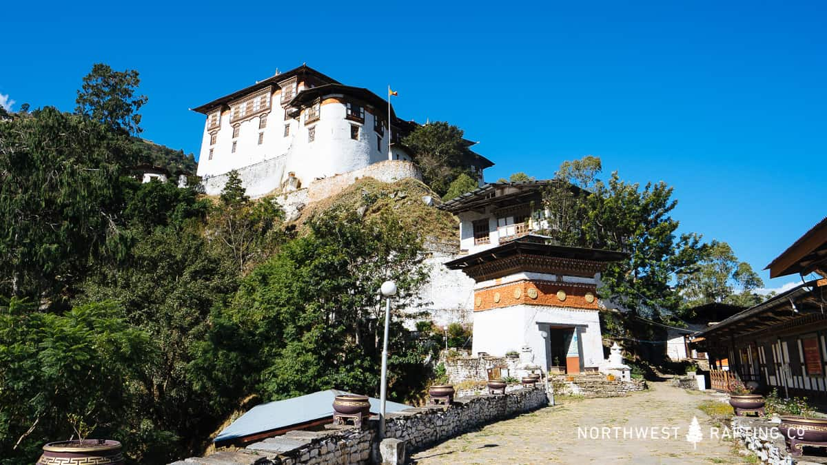 The Dzong in Lhuentse is built on top of a hill