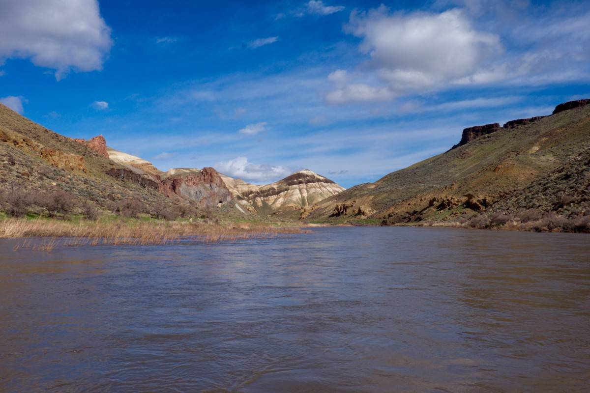 Blue Skies on the Owyhee River