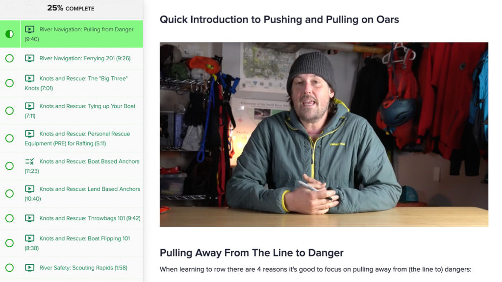 Our online rowing school covers a wide variety of topics